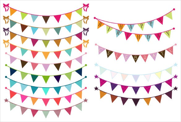 ribbon sample triangle banner template