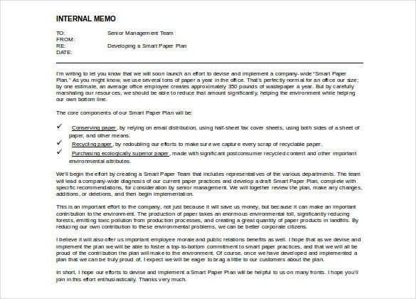 Free Doc Format Internal Memo Template  Memo Template Word