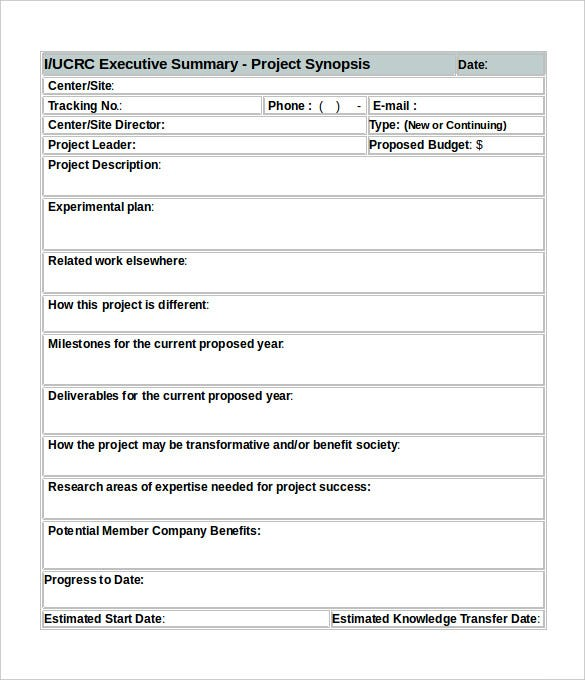 31 Executive Summary Templates Free Sample Example Format – Executive Summary Template Free
