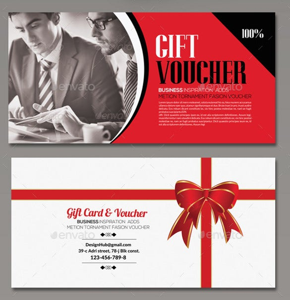 business gift voucher vector eps download