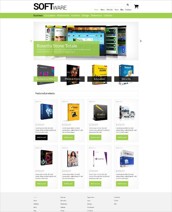 software store woocommerce bootstrap theme