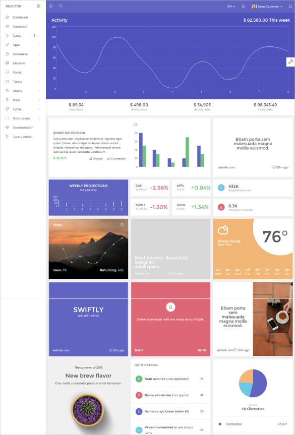 simple application bootstrap admin template