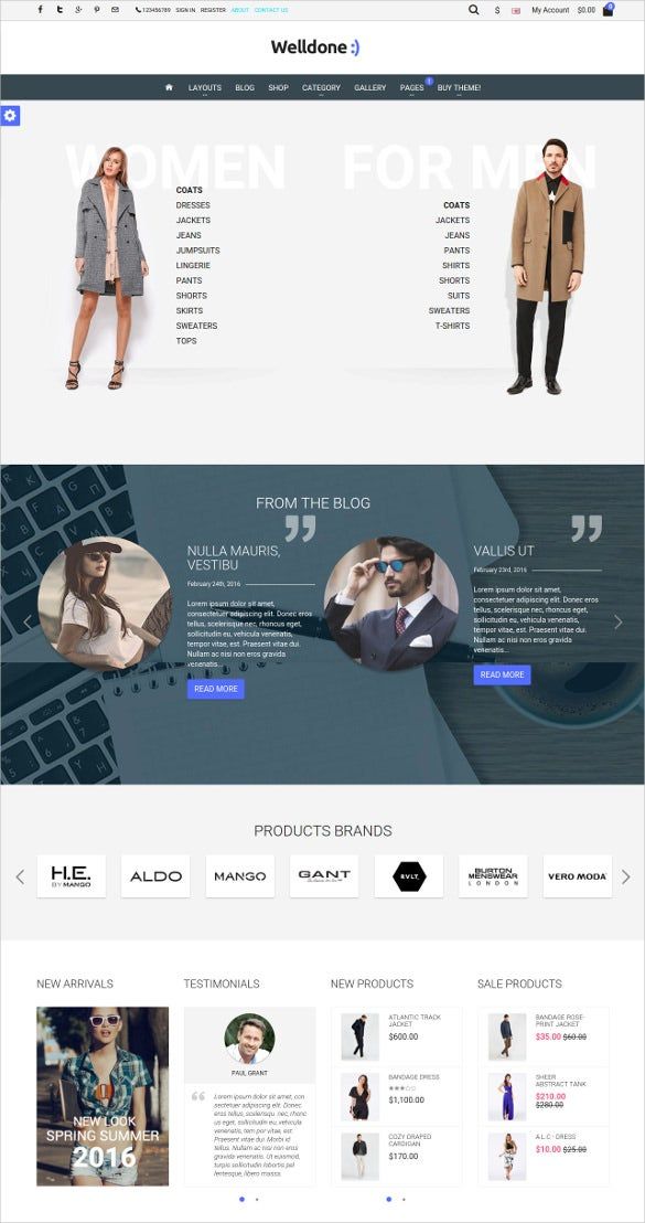 responsive fashion opencart theme