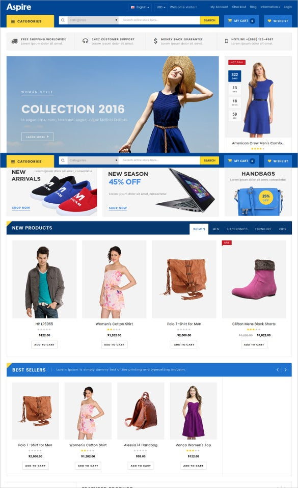 apperals responsive opencart theme