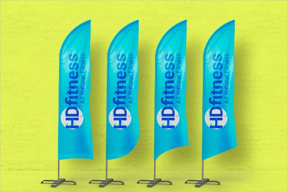 branding flag sample banner template