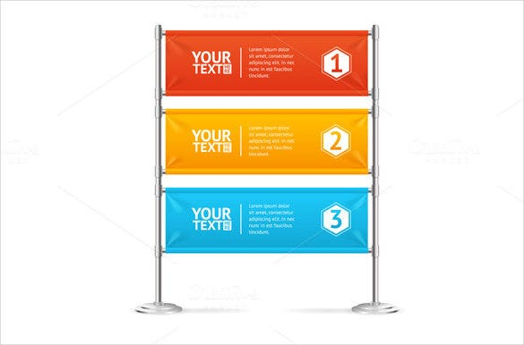 business sample flag banner template