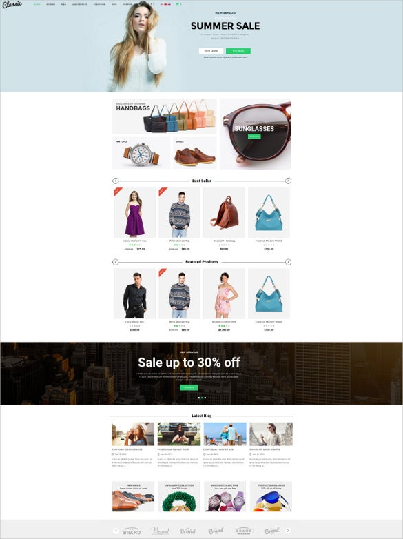 summer sale responsive opencart theme