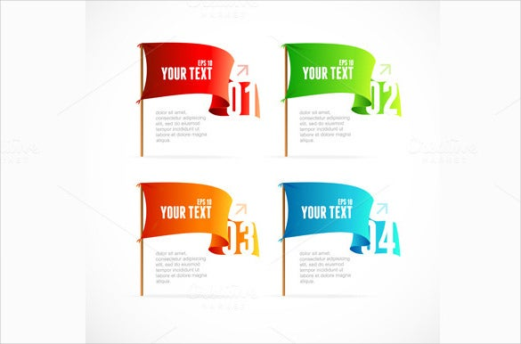 isolated sample flag banner template