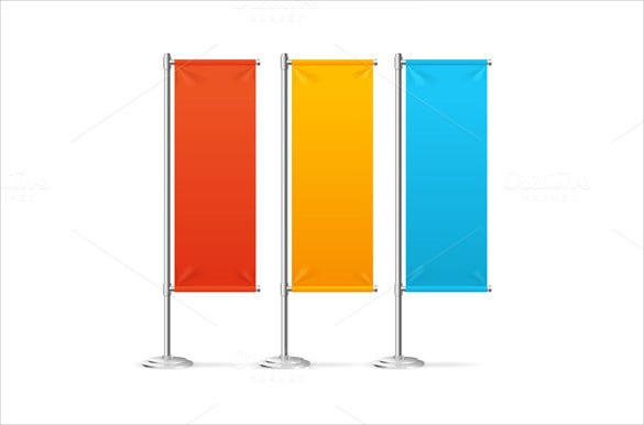 blank sample flag banner template