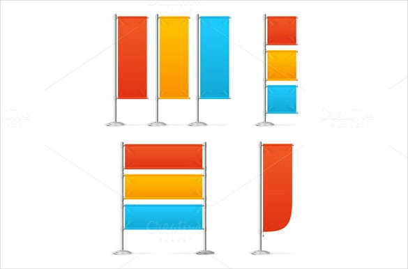 marketing sample flag banner template