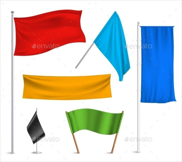 colorful sample flag banner template