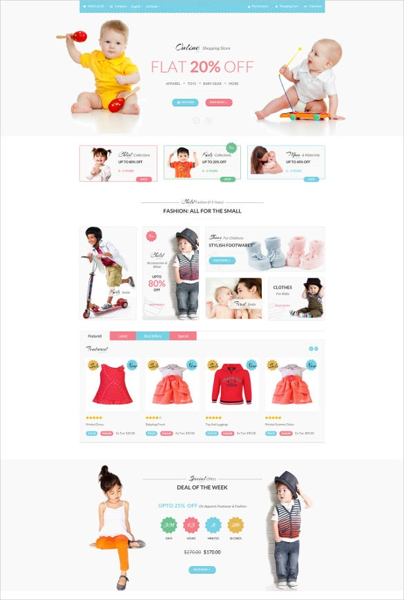 responsive baby store opencart theme