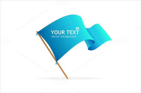 vector sample flag banner template
