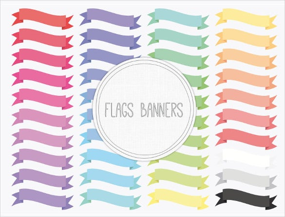 digital sample flag banner template