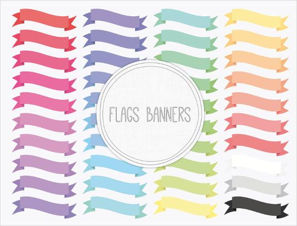 digital sample flag banner template