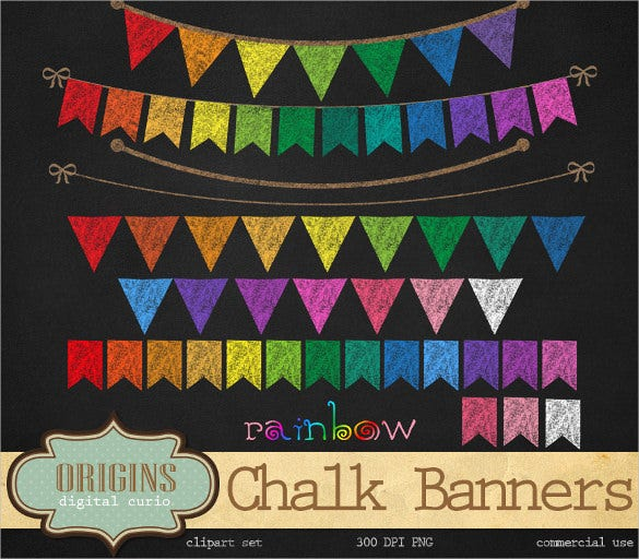 rainbow sample flag banner template