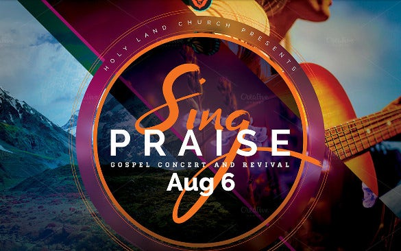 Concert flyer template 31 psd format download free premium sing praise gospel concert flyer stopboris Images