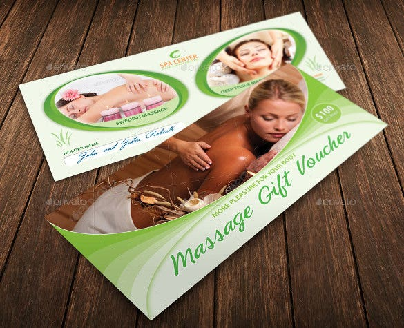 massage and spa center gift voucher template download