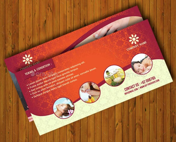 massage voucher template vector eps download