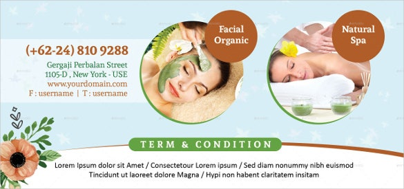 healty massage gift certificate voucher template download