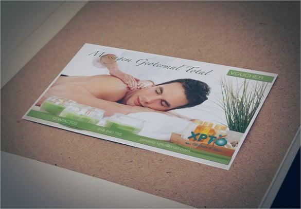 massage voucher xpto ginásio template download