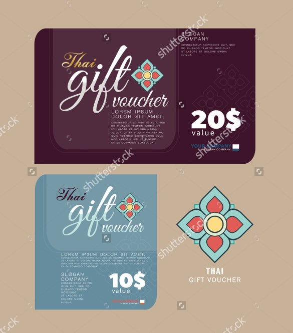 gift voucher massage thailand style template download