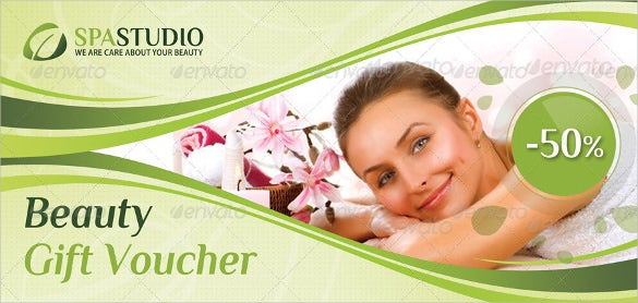 beauty and spa gift voucher download
