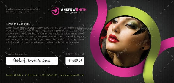 beauty and massage voucher bundle template download
