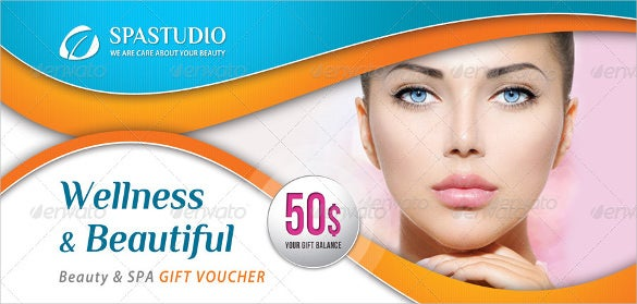 beauty and massage gift voucher template 2