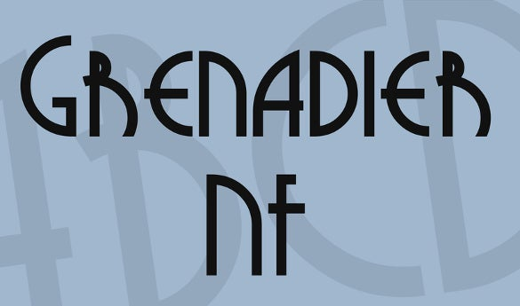 grenadier nf font free download
