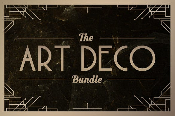 art deco bundle otf font download