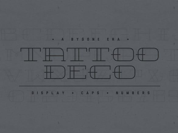 tattoo deco font download