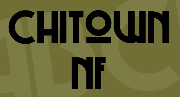 chitown art deco nf font