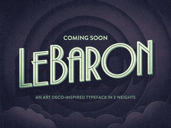 lebaron art deco font download