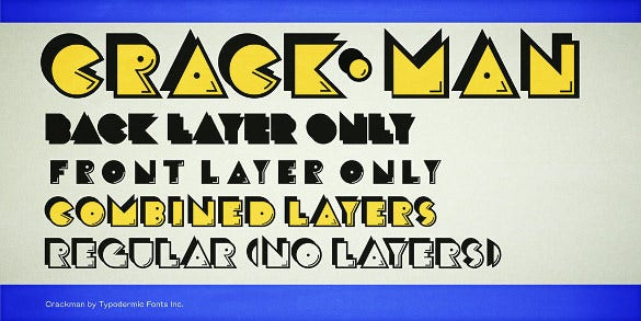 download crack man art deco font family