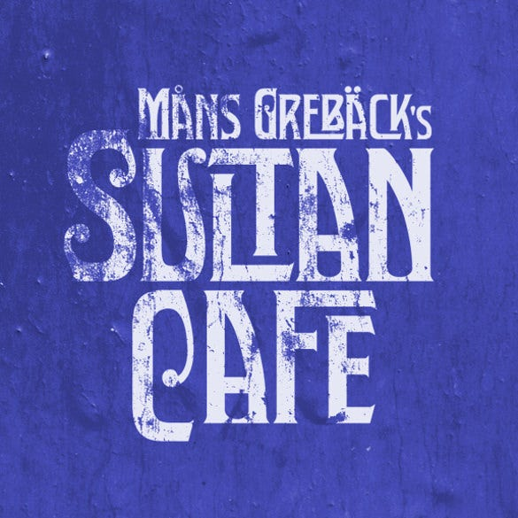 sultan cafe personal use art deco font