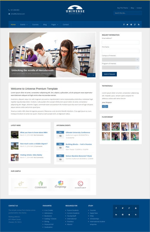 education responsive college wordpress website theme