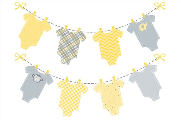 image relating to Free Printable Baby Shower Banner referred to as 20+ Child Shower Banner Templates Free of charge Pattern, Instance