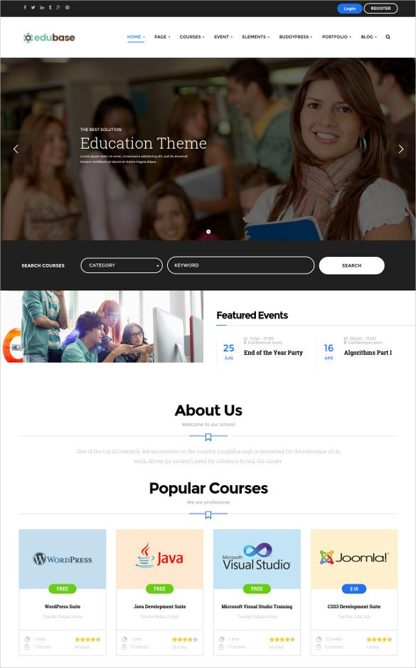 41+ College Website Themes & Templates | Free & Premium Templates