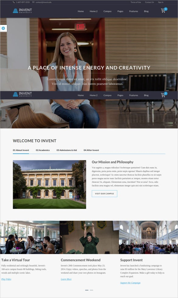 education course college wordpress website theme