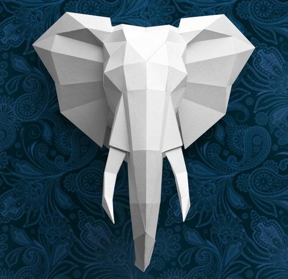 an elegant elephant 3d art sculpture