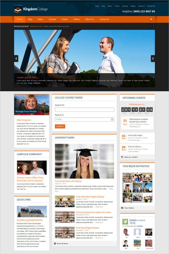 41 college website themes templates free premium templates college educational wordpress website theme 49 free demo download pronofoot35fo Gallery