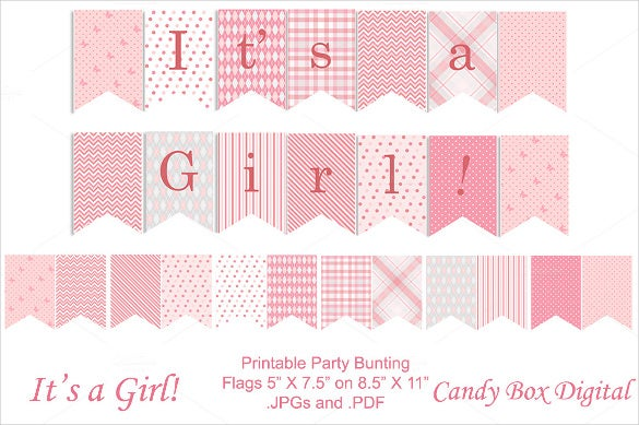 image relating to Baby Shower Banner Printable known as 20+ Youngster Shower Banner Templates No cost Pattern, Case in point