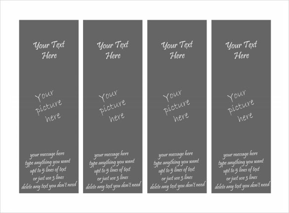 free printable photo bookmark template - Free Printable Bookmarks Templates