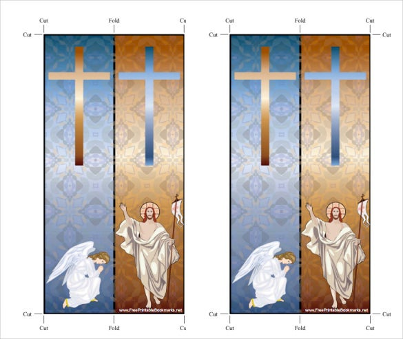 free christian bookmark template with angel