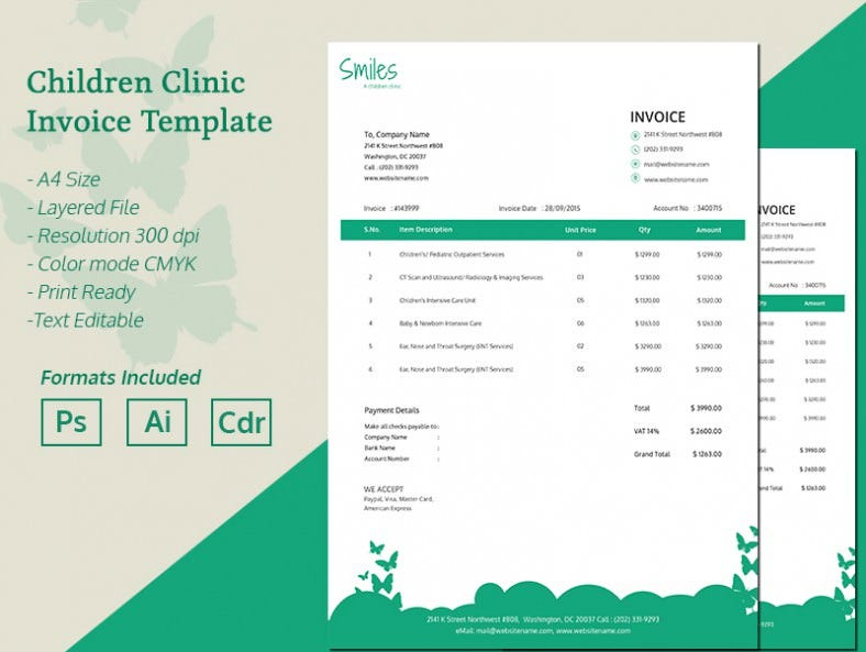 ChildrenClinic_Invoice