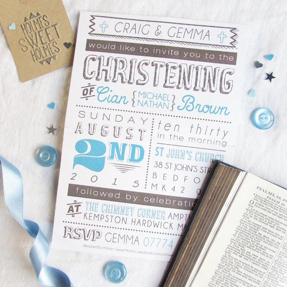 christening invitation cards