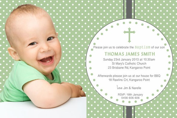 27 baptism invitation templates psd word publisher ai vector