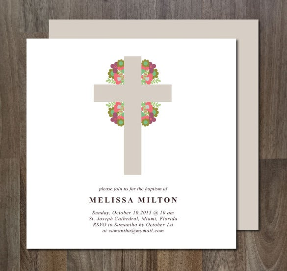 Baptism Invitation Templates 27 Free Psd Vector Eps Ai