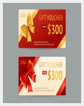 Vector Gift Voucher Template